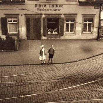 1 Klax Fleischerei Müller ca 1920